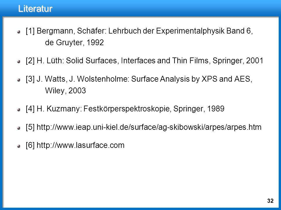 Literatur[1] Bergmann, Schäfer: Lehrbuch der Experimentalphysik Band 6, de Gruyter, 1992.